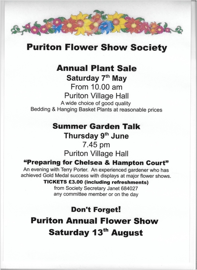 PURITON FLOWER SHOW
