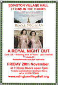 FILM NIGHT-A ROYAL NIGHT OUT