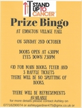 Stand up to Cancer Prize Bingo}