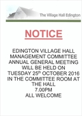 Village Hall Edington AGM